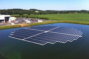 Floating Solar Array in France